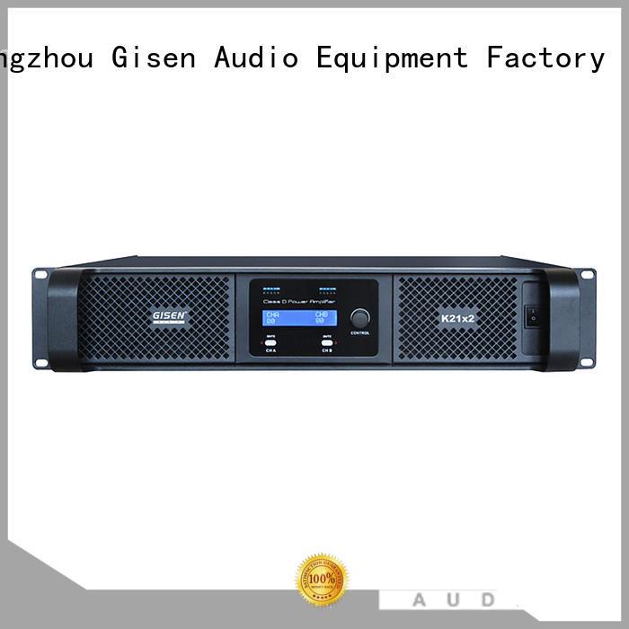 Gisen guangzhou class d amplifier supplier for stadium