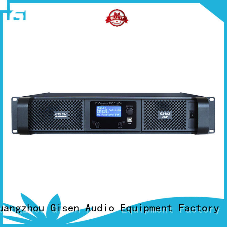 dsp power amplifier 2 channel Gisen