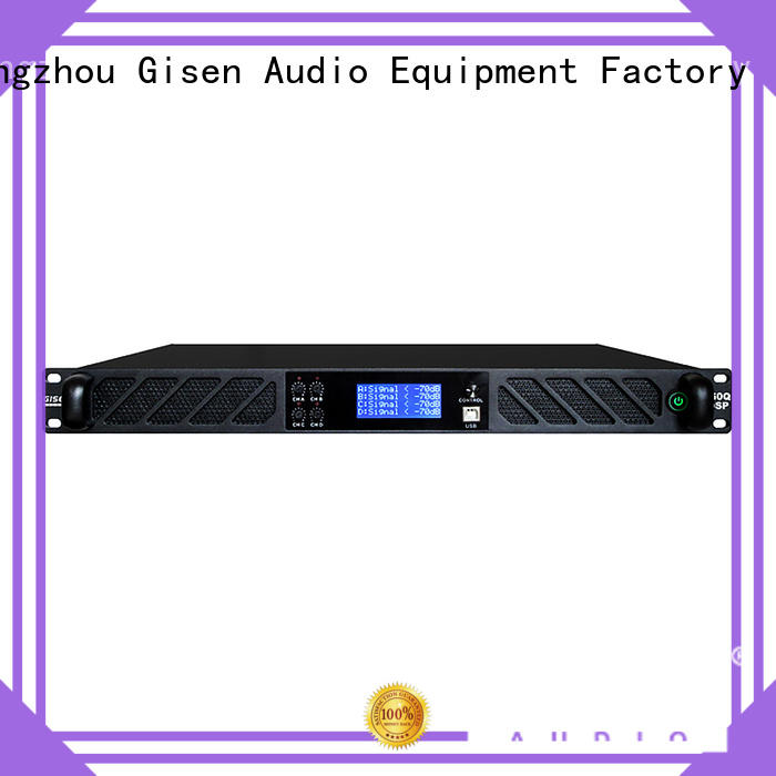 Gisen high quality best power amplifier in the world factory for stage