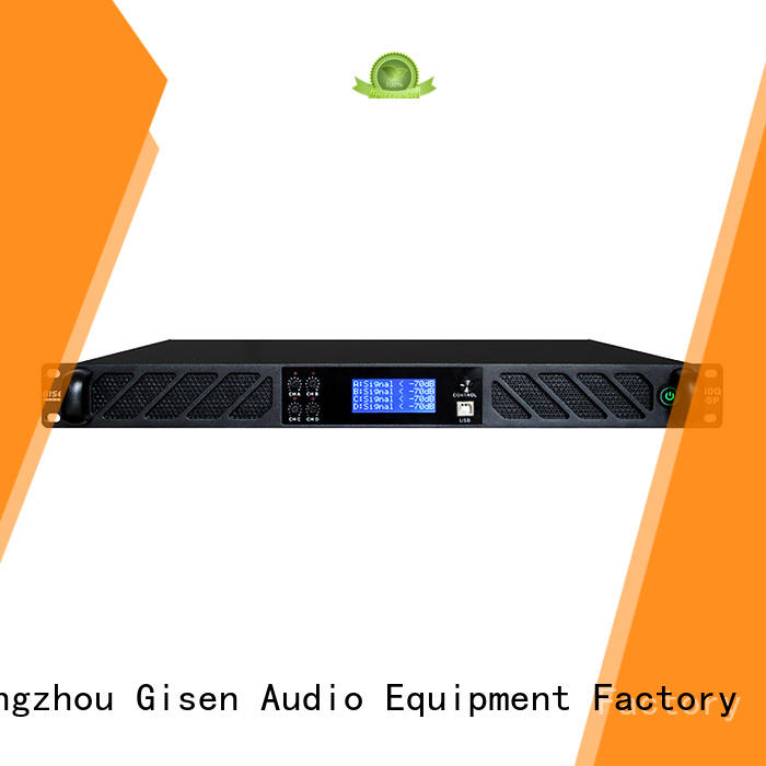 Gisen professional dsp power amplifier factory for various occations