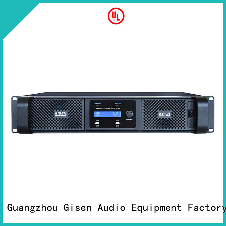 Gisen advanced home stereo power amplifier supplier for entertaining club