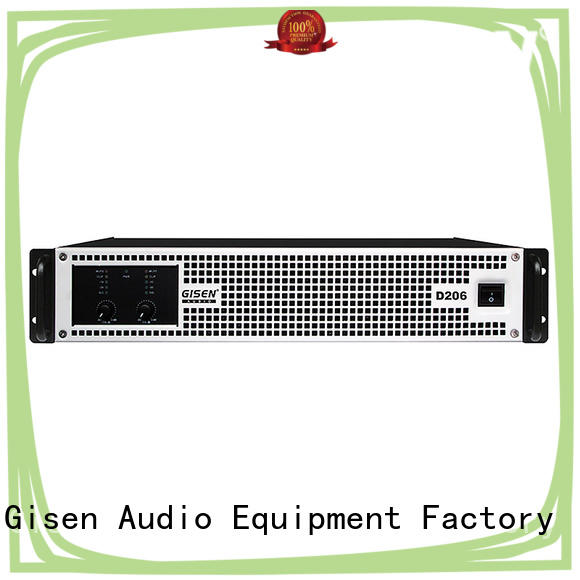 Gisen class class d stereo amplifier wholesale for stadium