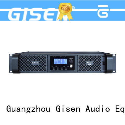 Gisen high quality professional digital amplifier 4channel for venue