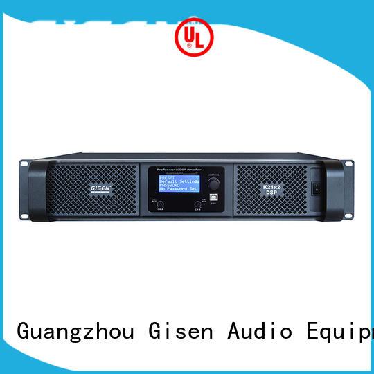 Gisen multiple functions professional digital amplifier amplifier for venue