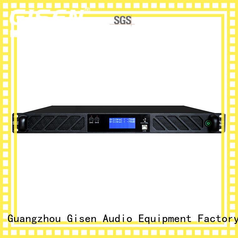 Gisen 4 channel dj power amplifier manufacturer for venue