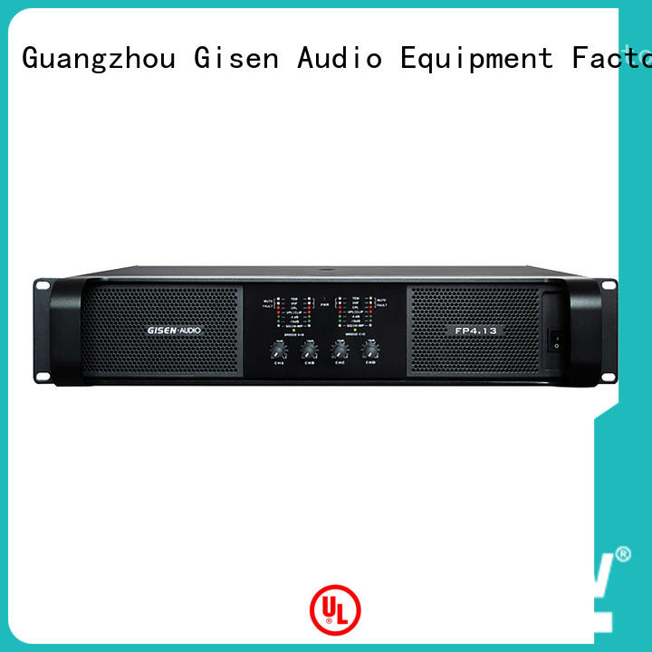 Gisen class stereo amplifier one-stop service supplier for ktv