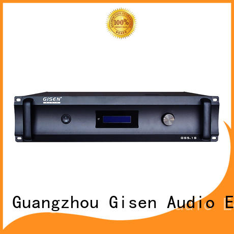 Gisen low distortion home theatre power amplifier manufacturer for home theater
