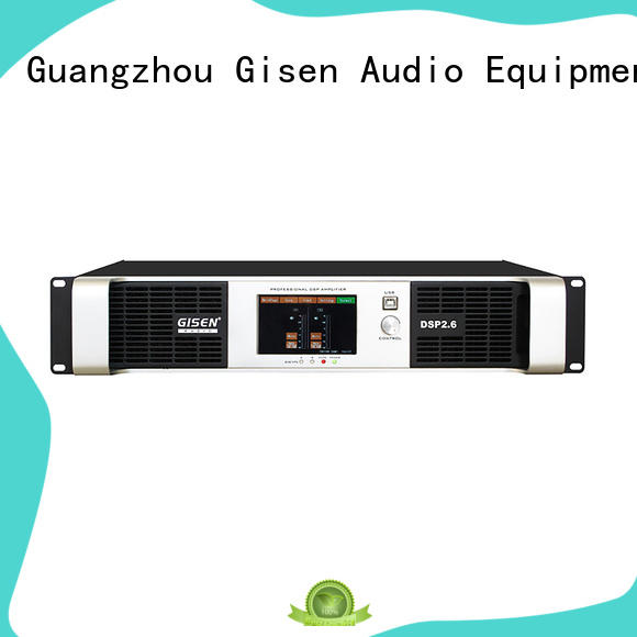 Gisen professional dsp power amplifier wholesale for stage