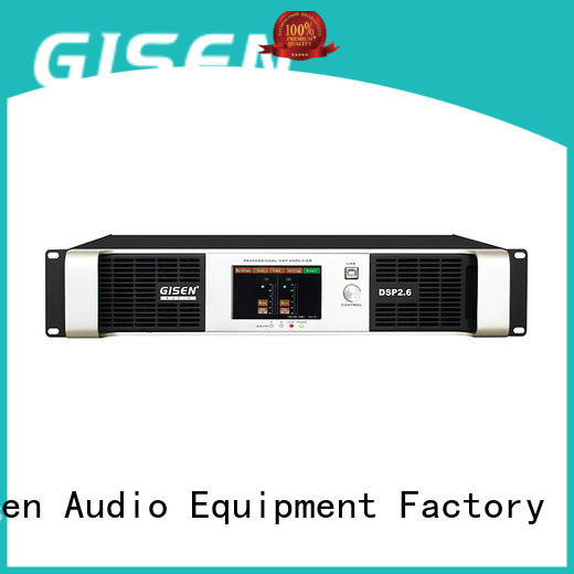Gisen 8ohm audio amplifier pro factory for stage