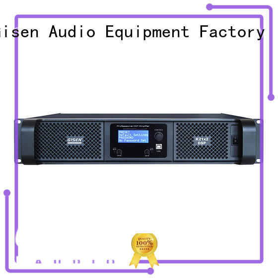 Gisen professional multi channel amplifier manufacturer for performance
