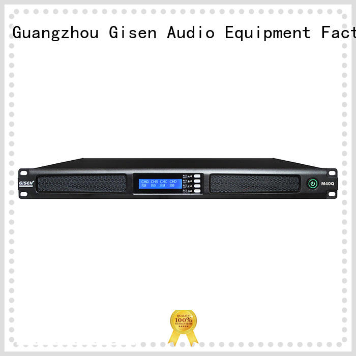 Gisen new model 4 channel amplifier wholesale for entertainment club