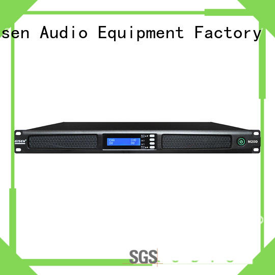 Gisen new model 4 channel professional power amplifier manufacturer for performance
