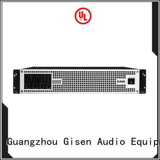Gisen advanced class d power amplifier manufacturer for entertaining club