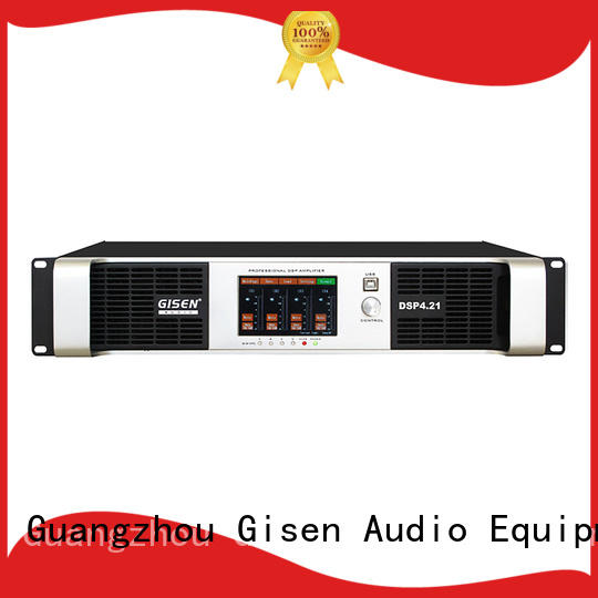 Gisen multiple functions dsp power amplifier factory for performance