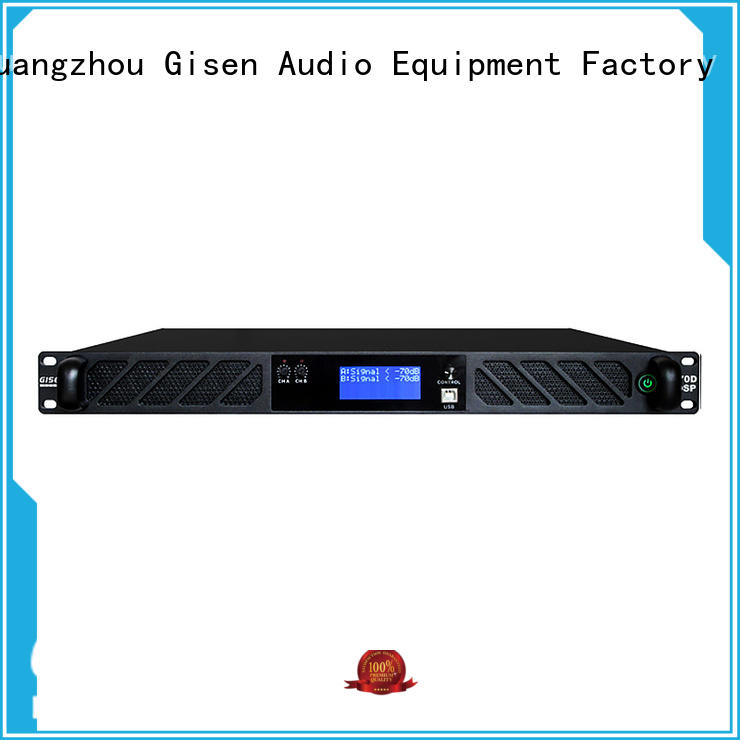Gisen multiple functions amplifier sound system supplier for stage