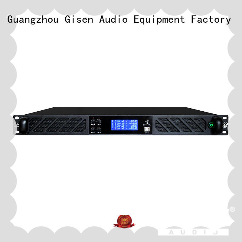 Gisen professional best power amplifier in the world factory for venue