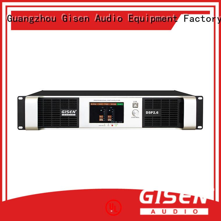 Gisen 4 channel direct digital amplifier manufacturer for stage