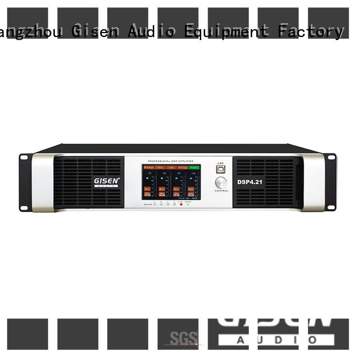 Gisen touch screen dsp power amplifier factory for venue