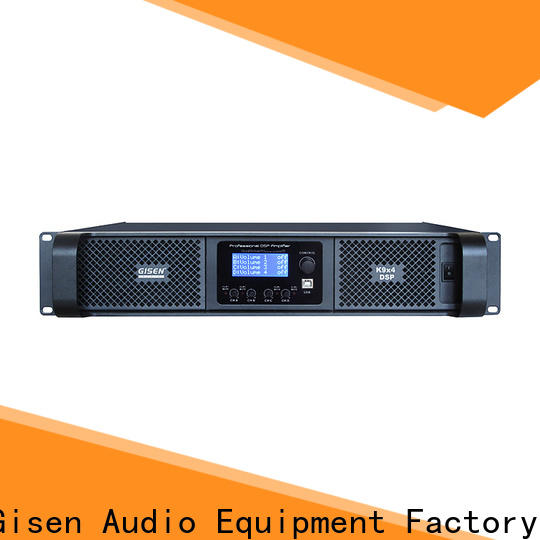 Gisen high quality dsp amplifier manufacturer for venue
