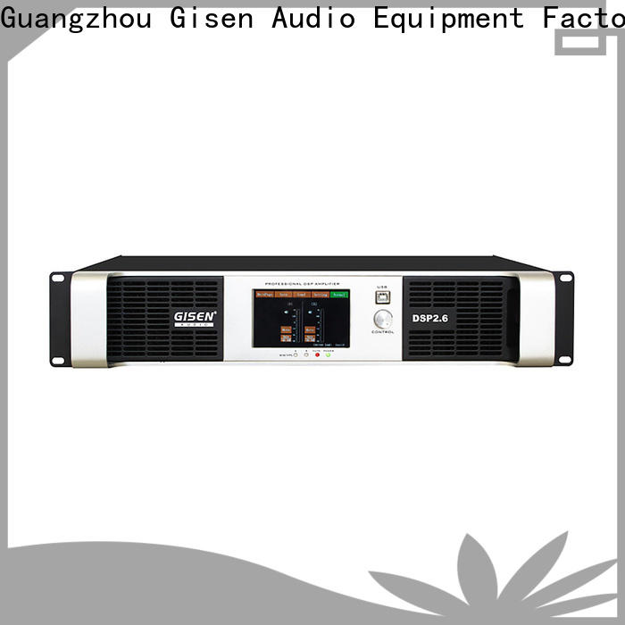 Gisen multiple functions multi channel amplifier factory for performance