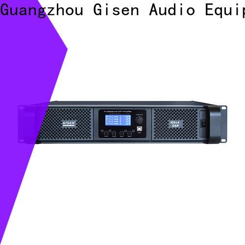 Gisen 2100wx4 audio amplifier pro supplier for venue