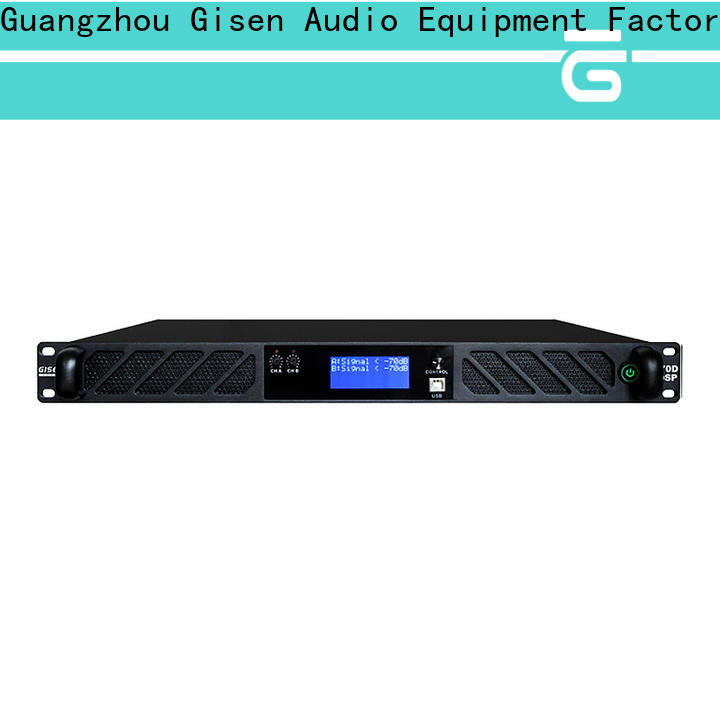 Gisen 2 channel multi channel amplifier manufacturer for various occations