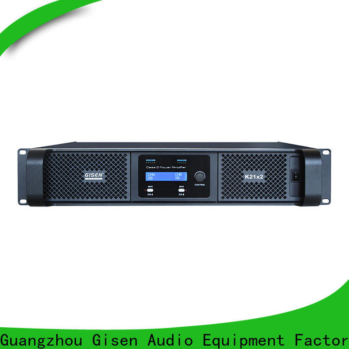 Gisen professional class d amplifier manufacturer for performance