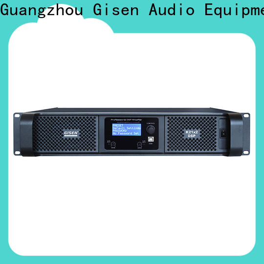 Gisen 4 channel best power amplifier in the world factory for stage