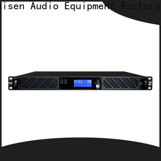 Gisen multiple functions multi channel amplifier manufacturer for venue