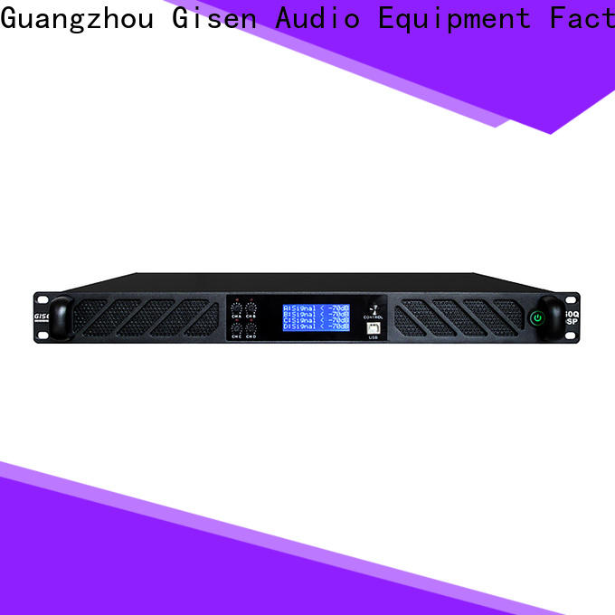Gisen high quality audio amplifier pro supplier for stage