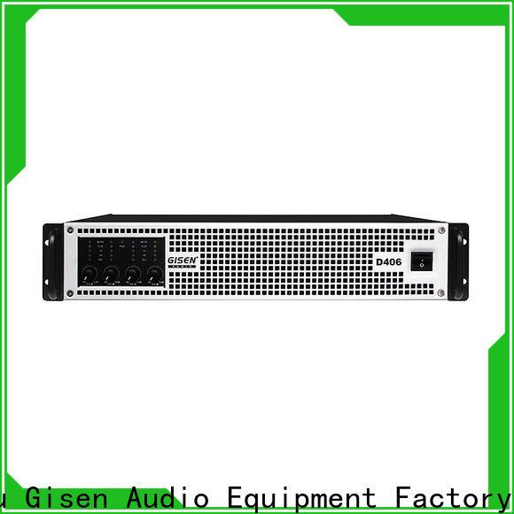Gisen full range top 10 power amplifiers supplier for ktv