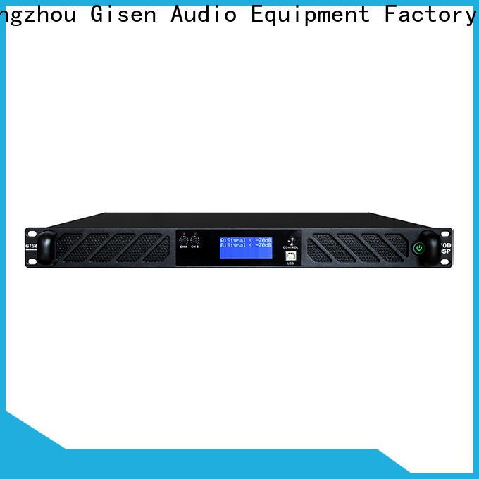 Gisen professional dsp power amplifier supplier