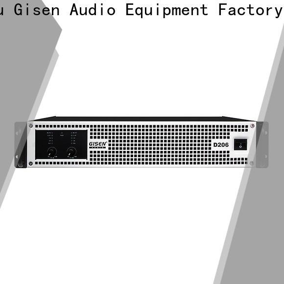 Gisen guangzhou class d audio amplifier fast shipping for ktv