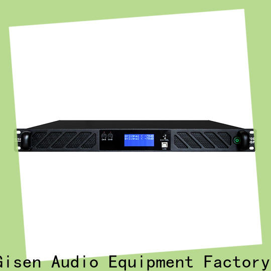 Gisen touch screen dsp amplifier supplier for venue