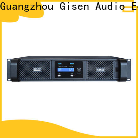 Gisen 2100wx2 class d audio amplifier manufacturer for ktv