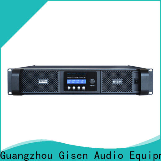 Gisen advanced class d stereo amplifier supplier for stadium