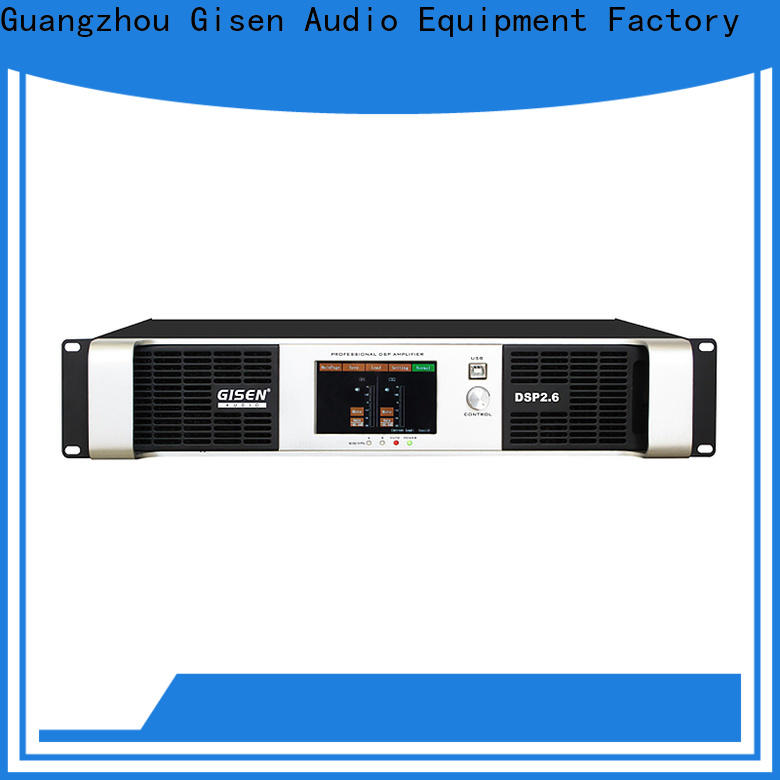 Gisen 8ohm dsp power amplifier supplier