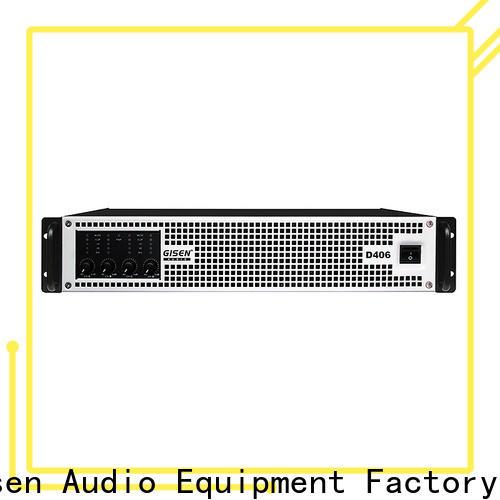 Gisen full range hifi class d amplifier supplier for stadium