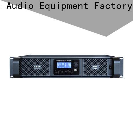 Gisen multiple functions dj power amplifier manufacturer for performance