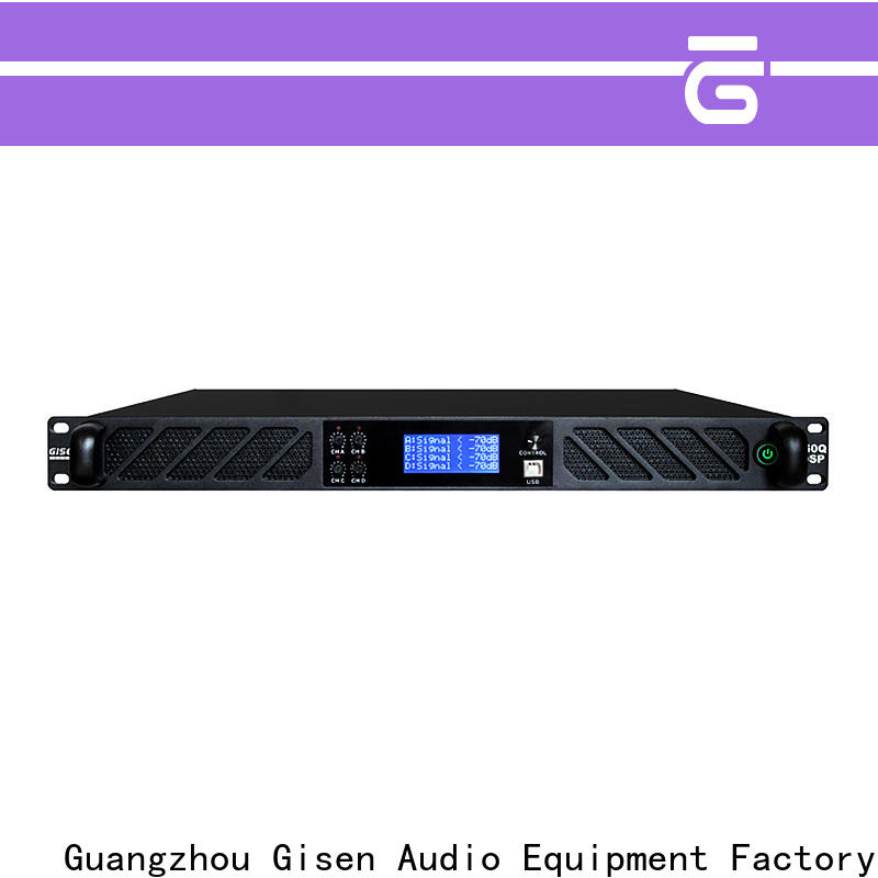 Gisen 8ohm dsp power amplifier factory for stage