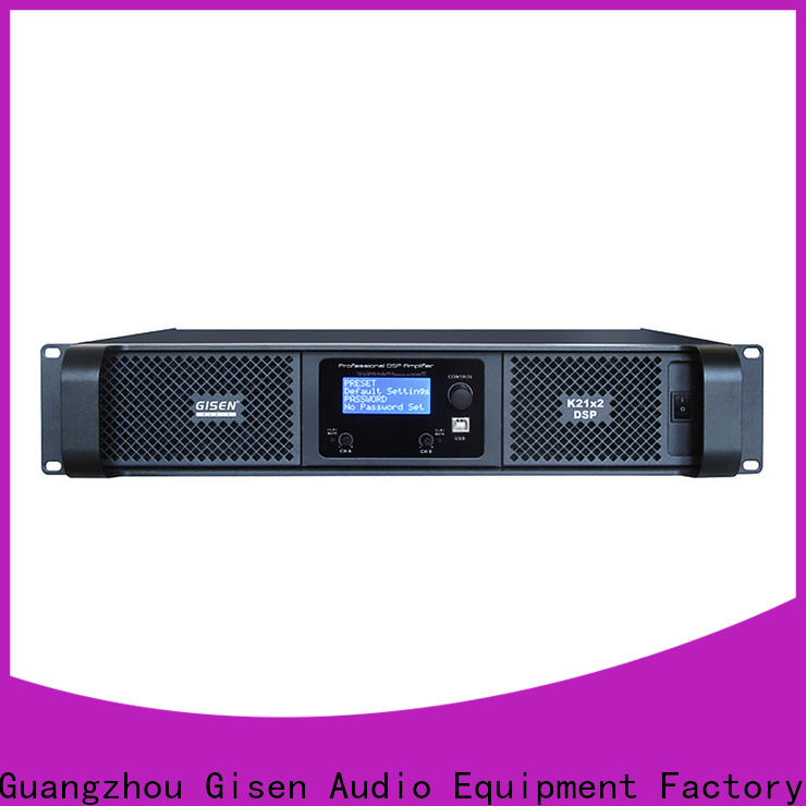Gisen 2100wx2 best power amplifier in the world supplier for stage