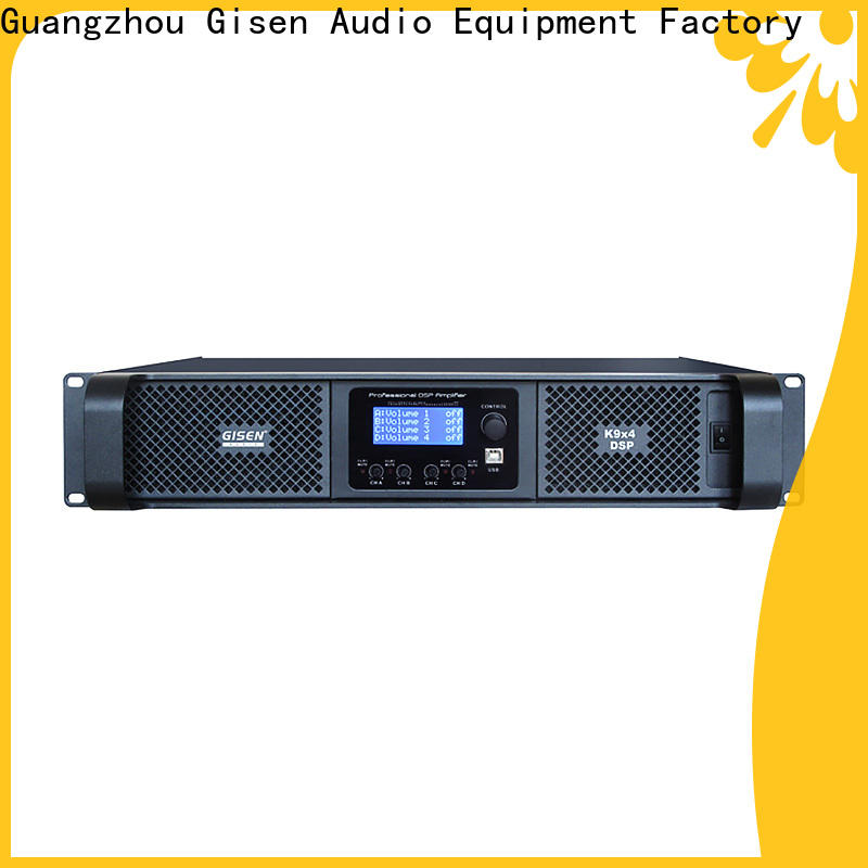 Gisen touch screen homemade audio amplifier supplier for stage