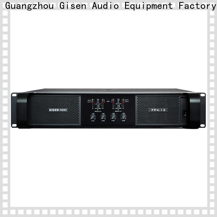 Gisen 4x1300w professional amplifier one-stop service supplier for performance