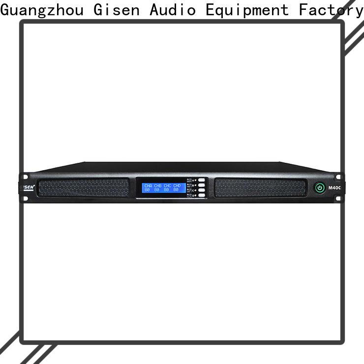 Gisen amplifier 4 channel amplifier supplier for venue
