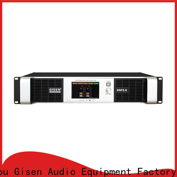Gisen professional dsp amplifier supplier for performance