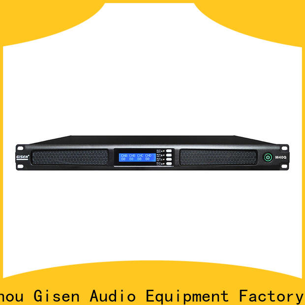 Gisen new model 4 channel amplifier supplier for entertainment club