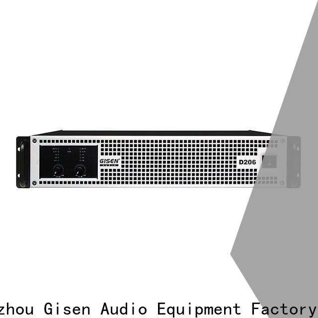 Gisen guangzhou class d power amplifier wholesale for entertaining club