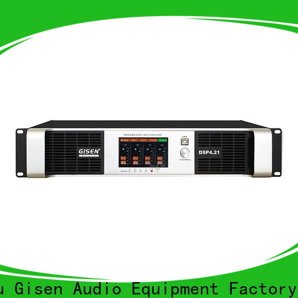 Gisen 2 channel amplifier sound system wholesale