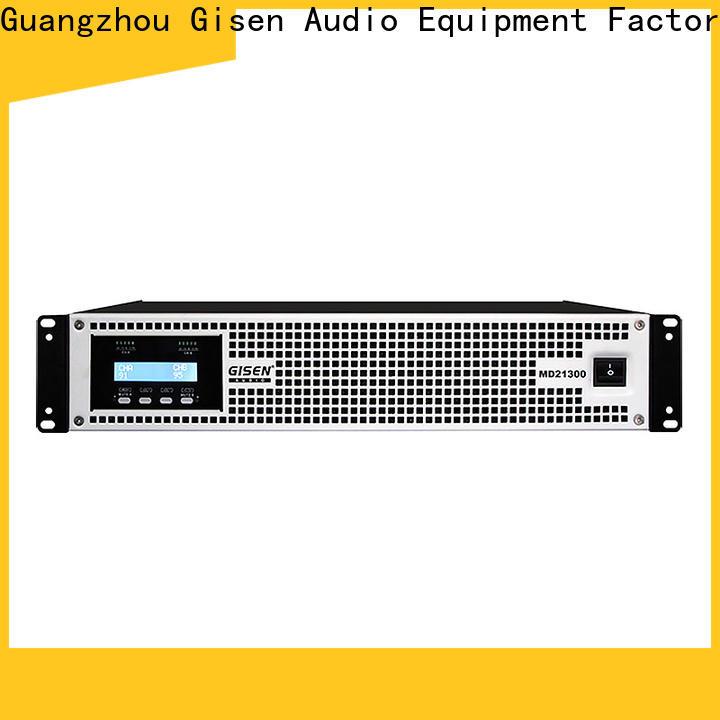 Gisen power high end amplifiers overseas market for stadium