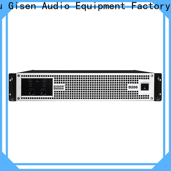 Gisen 2100wx2 class d amplifier supplier for entertaining club